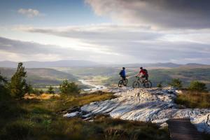 Family mountain biking in Scotland